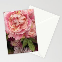 Oil Paint Flower Stationery Cards