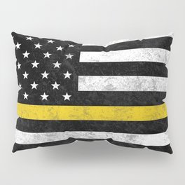 Thin Gold Line Flag Pillow Sham