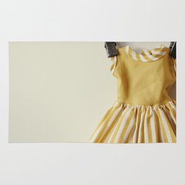 Doll Closet Series - Mustard Stripe Dress Rug