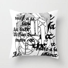 The Serpent Throw Pillow