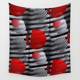 3D - abstraction -38- Wall Tapestry