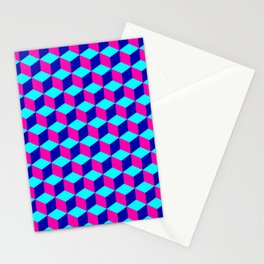 Neon Blocks Stationery Cards