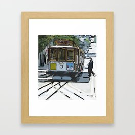 Powell and Market Framed Art Print