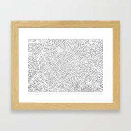 berlin city print Framed Art Print