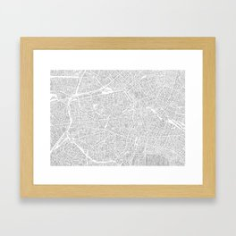 berlin city print Framed Art Print