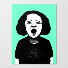 Cutout Turquoise Canvas Print