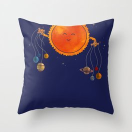 Plantary Puppeteering  Throw Pillow