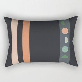 peach moon of summer Rectangular Pillow