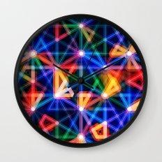 Flux Capacitor Geometric Art Print. Wall Clock
