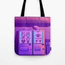 Neon Vending Machines Tote Bag