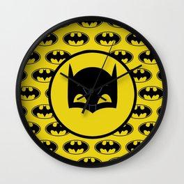 Super Hero Bat Shield Wall Clock