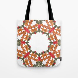 Embroidered Pattern Tote Bag