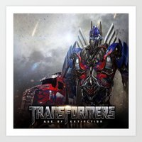 transformers Art Prints featuring transformers  , transformers  games, transformers  blanket, transformers  duvet cover by ira gora