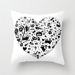 Halloween Heart Throw Pillow
