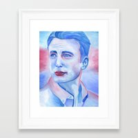 chris evans Framed Art Prints featuring Chris Evans by thinkpassion