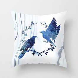 Finding Soul Mate In Universe Throw Pillow