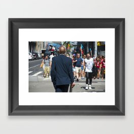 nyc modern mad men2 Framed Art Print