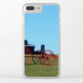 Horse Drawn Wagon Clear iPhone Case