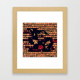 Charred 'Fragmented' Framed Art Print