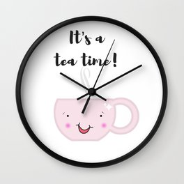 Tea time illustration Wall Clock
