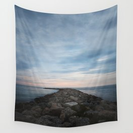 The Jetty at Sunset - Vertical Wall Tapestry