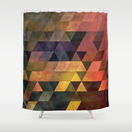 Graphic // isometric grid // chyynxxys Shower Curtain