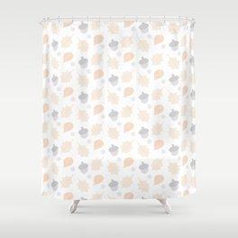 Autumn Acorn Pattern Shower Curtain