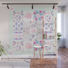 A Shabby Chic Patchwork Wall Mural