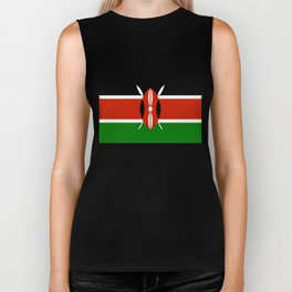 National flag of Kenya - Authentic version, to scale and color Biker Tank