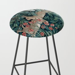 William Morris Forest Rabbits and Foxglove Bar Stool