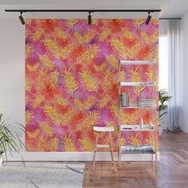 Watercolour Australian Native Floral Print - Grevillea Flowers Wall Mural