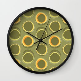 Solar Eclipse MCM Green Wall Clock