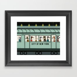 NY Subway Framed Art Print