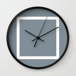 Panelling Grey Wall Clock