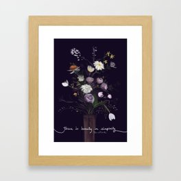 There's beauty in simplicity Framed Art Print