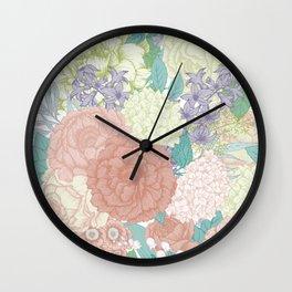 Floral Pattern 04 Wall Clock