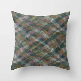 Hand-drawn abstract patterns with colorful waves and brush strokes Throw Pillow