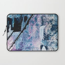 Breathe [4]: colorful abstract in black, blue, purple, gold and white Laptop Sleeve