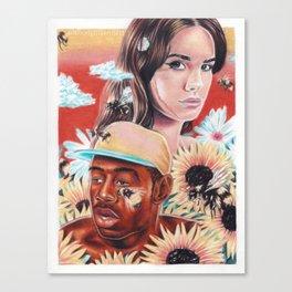 flower boy + girl Canvas Print
