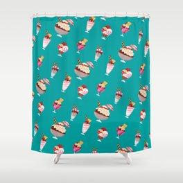 Ice cream pattern design Shower Curtain
