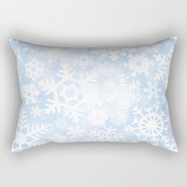 Winter Snow Pattern Rectangular Pillow