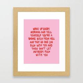 Girl Boss Motto Framed Art Print