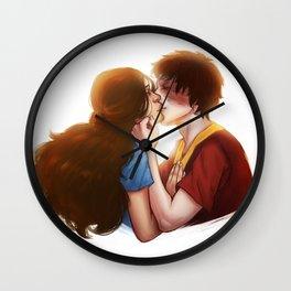 Zutara cute kiss Wall Clock