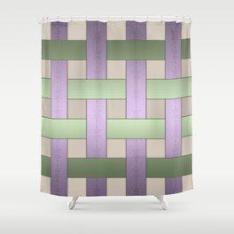 Basket weaving Shower Curtain
