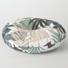Tropical Jungle Leaves Pattern #13 (Fall Colors) #tropical #decor #art #society6 Floor Pillow