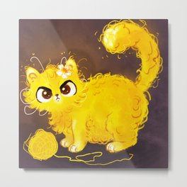 Yellow Cat Metal Print