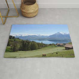 Lake Thun Bernese Oberland Switzerland Rug