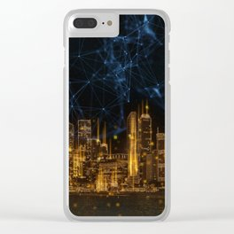 Lights in the night Clear iPhone Case