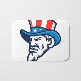 Uncle Sam Wearing USA Top Hat Mascot Bath Mat