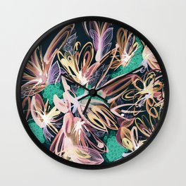 floral moment 2 Wall Clock